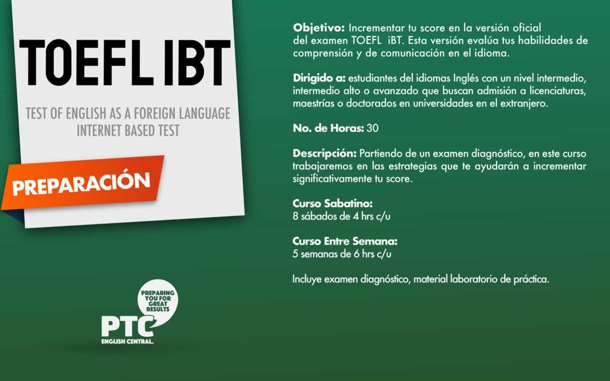 PTC Cursos TOEFL iBT