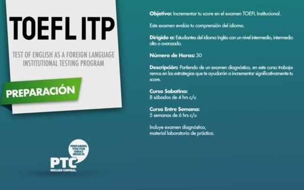 Curso TOEFL ITP en PTC